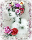 Whimsy Dust Victorian Lady Quilt Block Multi Szs FrEE ShiP WoRld Wide (W10