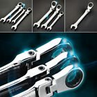 7mm spanner - 6-24mm 180° Flexible Pivoting Head Ratchet Spanner Wrench Metric Repairment Tool