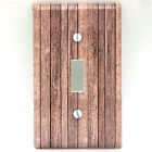 Light Switch Plate Cover Light Brown Wood 3812