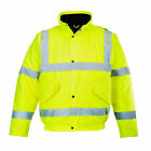 Portwest Yellow Hi-Visibility Waterproof Bomber Jacket, ANSI Class 3, US463
