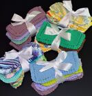 knitted dish cloths - DISH CLOTHS-DISHCLOTHS! U PICK SET! 4/$6~KNIT~COORDINATED COLORS~GIFT BOW~7x7.5