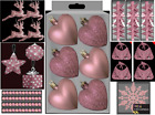 Luxury Blush Pink Collection Christmas Tree Decorations Bauble Star Hearts Trims