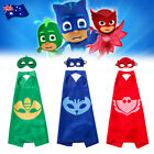 Kids PJ Masks Cape and Mask Set Superhero Costume Gekko Owlette Catboy Fun Party