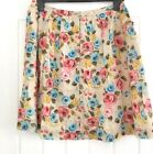 Cath Kidston Painterly Floral Lined Button Front Cotton Flared Skirt S M & L