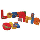 Handmade Decorated Wooden Name Jigsaw for Boys