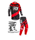 New 2018 Kids Youth Fly F16 Jersey Pant Kit & Fly Boots Red Black Xmas Combo