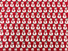 100% COTTON CHRISTMAS FABRIC - RED SNOWMEN - Fabric Xmas Material Metre (P253)