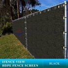 Ifenceview 4'x3'-4'x50' Black Uv Fence Privacy Screen Mesh Fabric Garden Outdoor