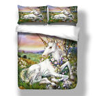 Myth Woods Unicorn Duvet/Quilt Cover Twin Queen King Size Pillowcases Bedd Set