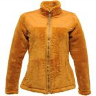 Regatta Cuddle Up Womens Full Zip Lightweight Quilted Fleece Jacket Gold Cumin