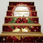 3D Christmas Decorative Stair Decal Stairway Stickers Family Stair Riser Decor