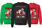Happy Human Holiday Ugly Christmas Sweater. Funny tv show fans sweatshirt