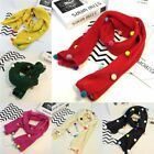 Fashion Kids Baby Girls Warm Scarf Colorful Pom Pom Knitting Scarf Neckerchief