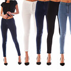 NEW WOMENS HIGH WAISTED STRETCHY SKINNY FIT JEANS LADIES JEGGINGS  6 - 18
