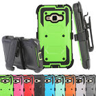 Durable Hybrid Phone Case Cover Belt Clip Holster with Built-in Screen Protector