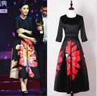 Wholesale 2017 Woman Spring Occident New Fashion Week Hot Printing Long Dresses
