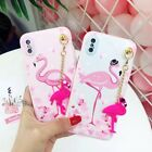 Cute Flamingo Doll Pendant Charm Soft Rugged Case Cover For iPhone X 6S 7 8 Plus