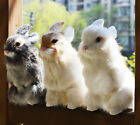 Внешний вид - Lifelike Realistic Rabbit Easter Home Decoration Figurine Bunny Fur Furry Animal