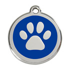 Red Dingo Dog ID Pet Tag Charm FREE Personalized Engraving PAW PRINT