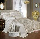 Cotton Jacquard Embroidered Classic Duvet Cover Bedding Set High Quality 4/6pcs image