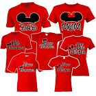 🔥 Mom Dad Big Sister brother Mickey Family Matching T shirts disney Vacation image