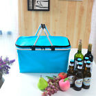 Waterproof Picnic Basket 600D Oxford Folding  Cooler Tote Portable Camping Bag