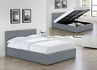 Siesta Ottoman Storage Lift Up Bed Grey Faux Leather 3ft 4ft 4ft6 or 5ft
