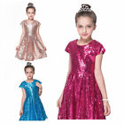 Girl kid Dress Short Sleeve Show Princess Birthday Pageant Gown Formal O9990