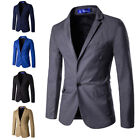 Blazer Coat Jacket Tops Men Fashion Charm Casual Slim Fit One Button Suit O1400