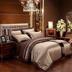 Jacquard Silk Cotton Duvet Cover Excellent Home Textile Bedding Set 4/6Pcs UPS