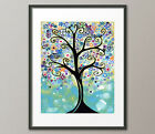 Lg. Canvas or Fine Art Print Colorful Flower Tree Whimsical Modern Contemporary