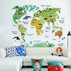 childrens animal wallpaper - Kids Educational Wallpaper World Map Decals Sticker Home Art Decoration