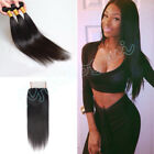 """Malaysian 8A 4x4"""" Straight Lace Frontal with 300G Virgin Human Hair Extensions"""