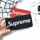 Supreme Phone Case Cover For iPhone X / 8/7/6 &Plus Cases Black Red Brand New KP