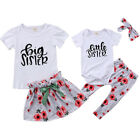 Baby Girls Little Big Sister Match Clothes Jumpsuit Romper Outfits Tops T Shirts