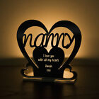 Personalised Tea Light Heart Candle Holder For NANNY Birthday Mother's Day Gift