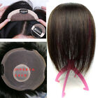 New 6''~10'' Big Base Size Womens Mens 100% Virgin Human Hair Topper Toupee