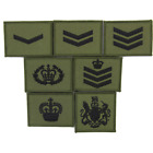 COMMANDO STYLE CDO RANK PATCHES OLIVE/BLACK SEW ON PATCH BADGE