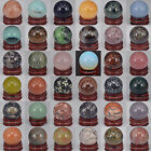 Collectibles - 30MM Wholesale Lots Mix Natural Gemstone Sphere Crystal Ball Reiki Healing Globe