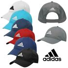 Adidas Logo Cap Running Golf Baseball Hat Black Navy White Red Blue Mens Womens