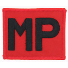 MP MILITARY POLICE SCARLET MP PATCH BADGE ROYAL MILITARY POLICE RMP-RAF POLICE