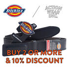 DICKIES BELT MEN'S MECHANICS WORK BELT INDUSTRIAL BLACK LEATHER COVERED BUCKLE