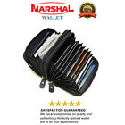 Genuine Leather Credit Card Holder Accordion Wallet by Marshal