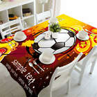 Football Test 3D Tablecloth Table cover Cloth Rectangle Wedding Party Banquet