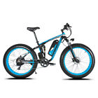"Electric Mountain Bike Ebike 26""x4.0 Full Suspension Bicycle7 Speeds 1000W"