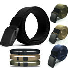 Mens Casual Outdoor Military Tactical Polyester Waistband Canvas Web Buckle Belt