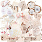 Team Bride Party Hen Night Bachelorette Decoration Accessories Tableware Set