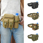 Tactical Military Travel Hiking Water Bottle Belt Fanny Waist Pouch Bag Nylon US