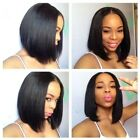 Brazilian Virgin Hair Wig Bob Straight Top Lace Wig Full Lace Human Hair Wigs