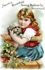 Thread Card Household Girl Pup Quilt Block Multi Sizes FrEE ShiPPinG WoRld WiDE